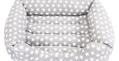 cama mascotas con estrellas